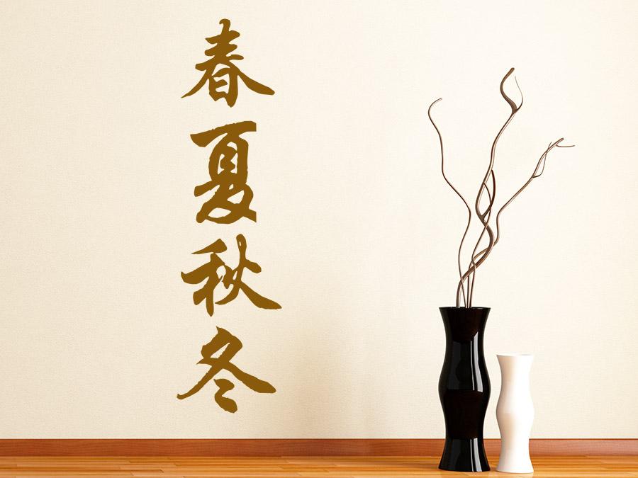 Wandtattoo Chinesisch Jahreszeiten