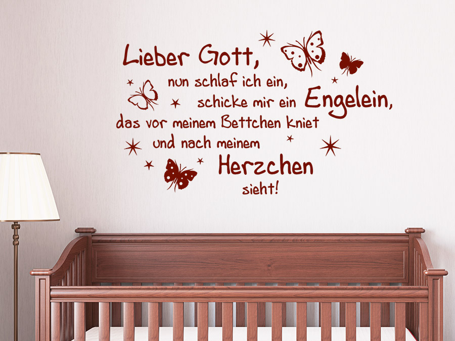 wandtattoo lieber gott spruch von. Black Bedroom Furniture Sets. Home Design Ideas