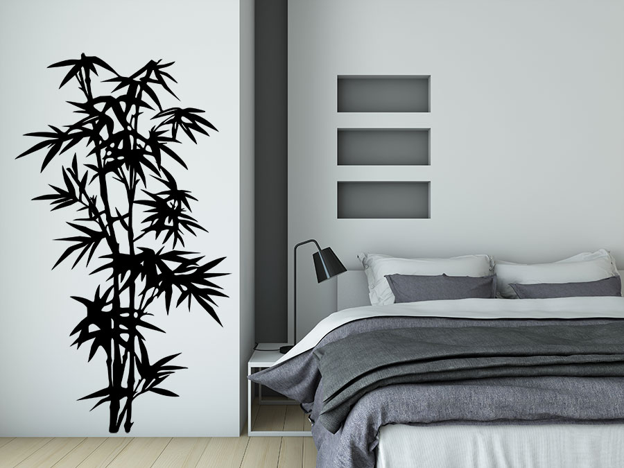 Wandtattoo wilder bambus strauch bei - Wandschablonen schlafzimmer ...
