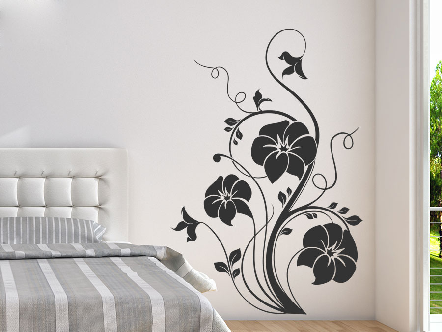 wandtattoo blumenzauber ornament wandtattoo de. Black Bedroom Furniture Sets. Home Design Ideas