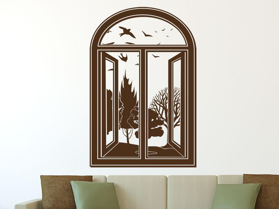 wandtattoo fenster sch ner ausblick. Black Bedroom Furniture Sets. Home Design Ideas