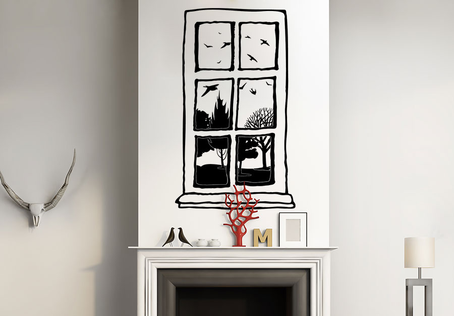 Wandtattoo Fenster im Retro Look bei Homesticker.de