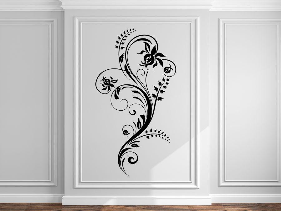 wandtattoo bl tenkunst ornament bei. Black Bedroom Furniture Sets. Home Design Ideas