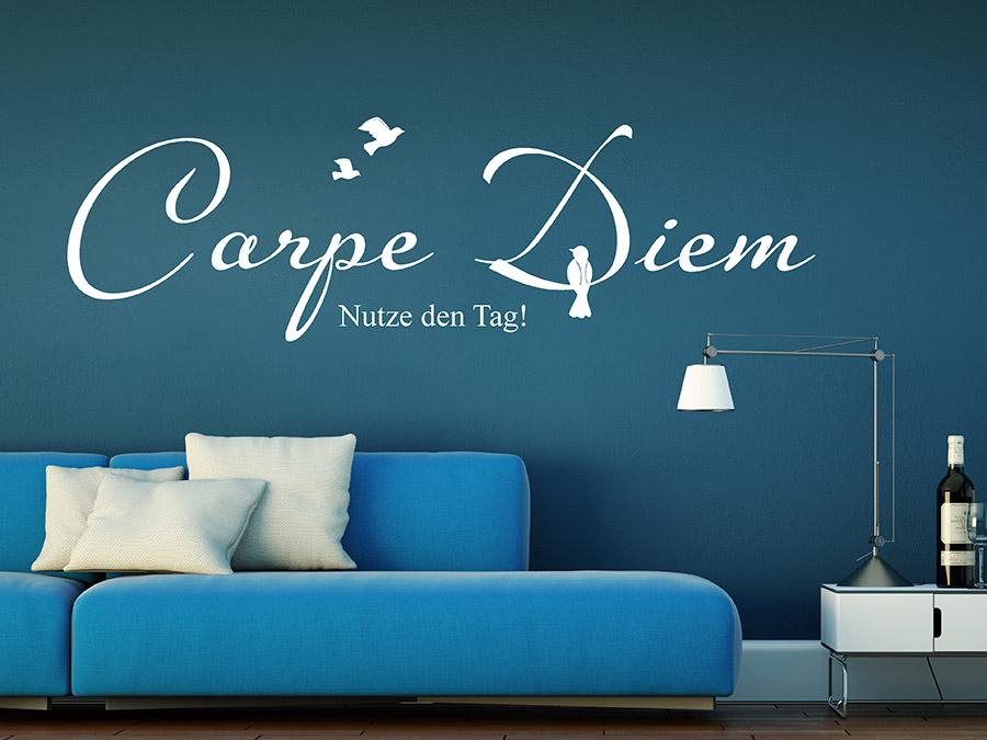 wandtattoo vogel im carpe diem bei. Black Bedroom Furniture Sets. Home Design Ideas