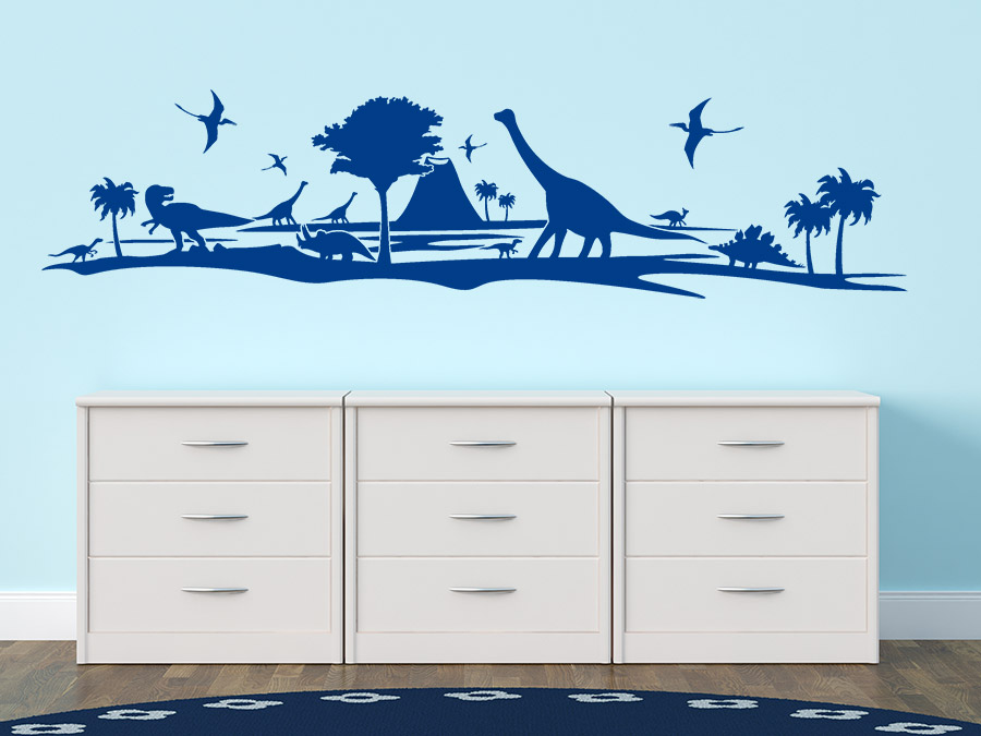 wandtattoo dino welt dinosaurier von. Black Bedroom Furniture Sets. Home Design Ideas