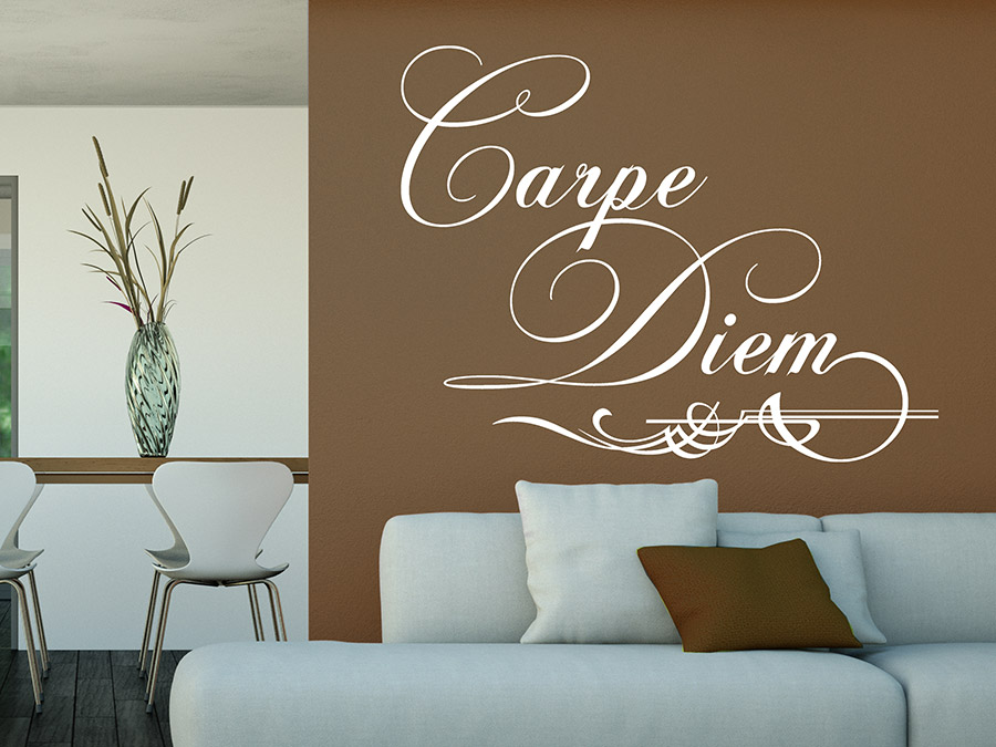 wandtattoo ornament carpe diem bei. Black Bedroom Furniture Sets. Home Design Ideas