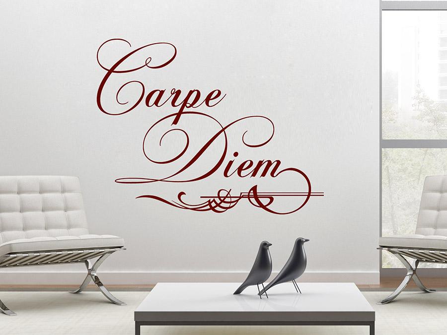 wandtattoo ornament carpe diem bei. Black Bedroom Furniture Sets. Home Design Ideas