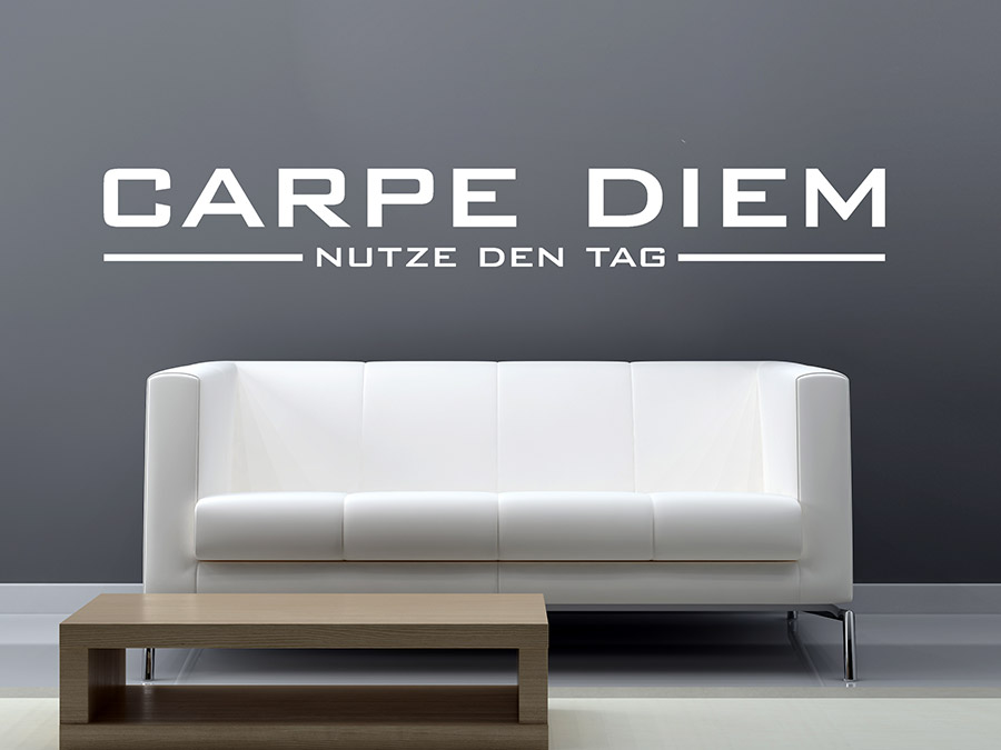 wandtattoo modernes carpe diem wandtattoo de. Black Bedroom Furniture Sets. Home Design Ideas