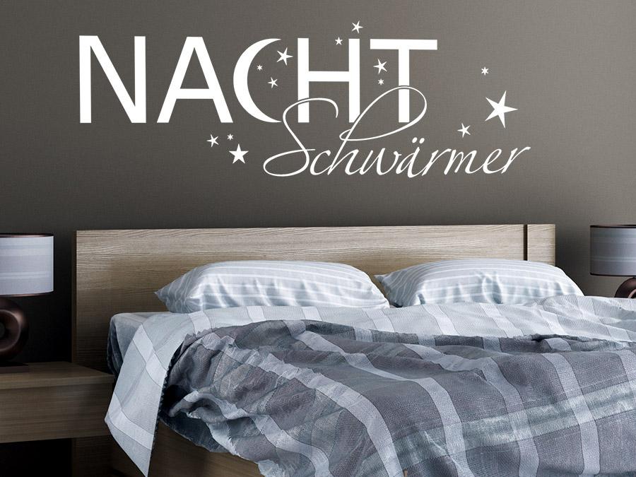 Wandtattoo Nachtschwärmer fürs Schlafzimmer | WANDTATTOO.DE