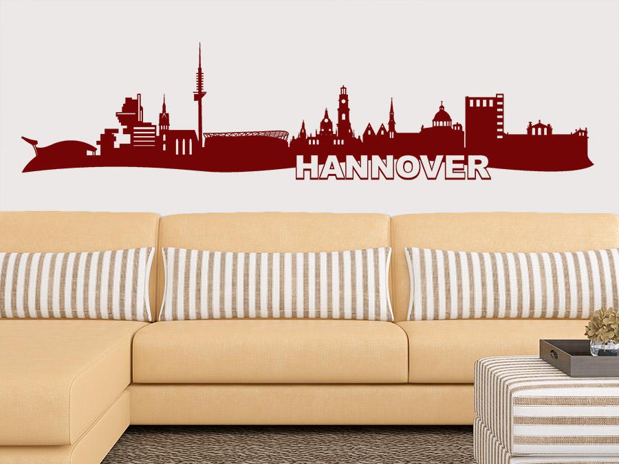 Wandtattoo Hannover Skyline Im Wohnzimmer