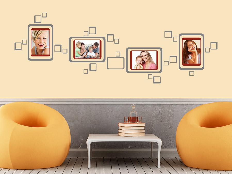 wandtattoo retro fotorahmen wandtattoo de. Black Bedroom Furniture Sets. Home Design Ideas