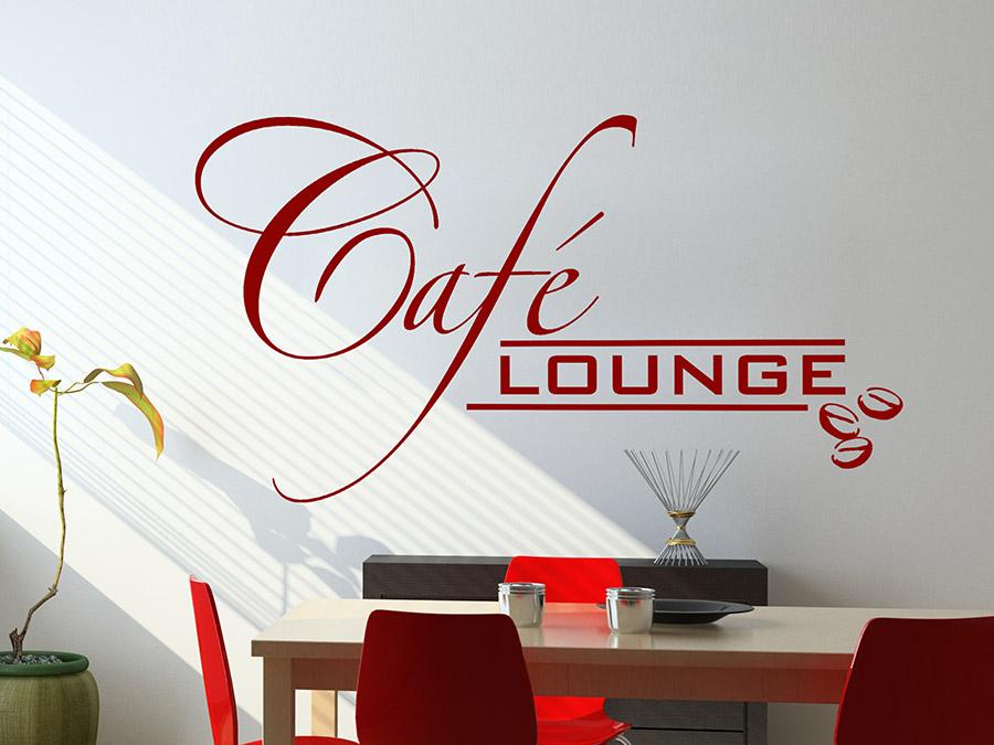 Wandtattoo moderne caf lounge bei for Moderne wohnungsdeko