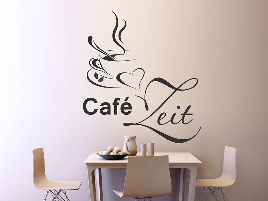 wandtattoo caf zeit kaffee wandtattoos. Black Bedroom Furniture Sets. Home Design Ideas