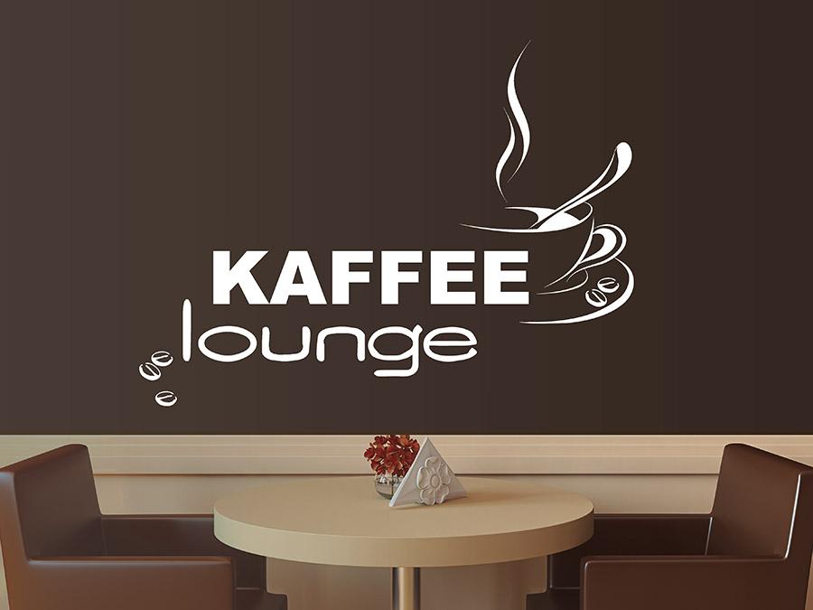 wandtattoo kaffee lounge mit kaffeetasse wandtattoo de. Black Bedroom Furniture Sets. Home Design Ideas