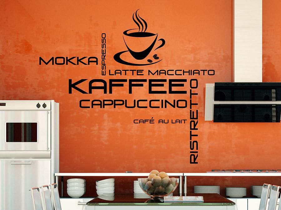 wandtattoo kaffee tasse kaffeesorten wandtattoo de. Black Bedroom Furniture Sets. Home Design Ideas