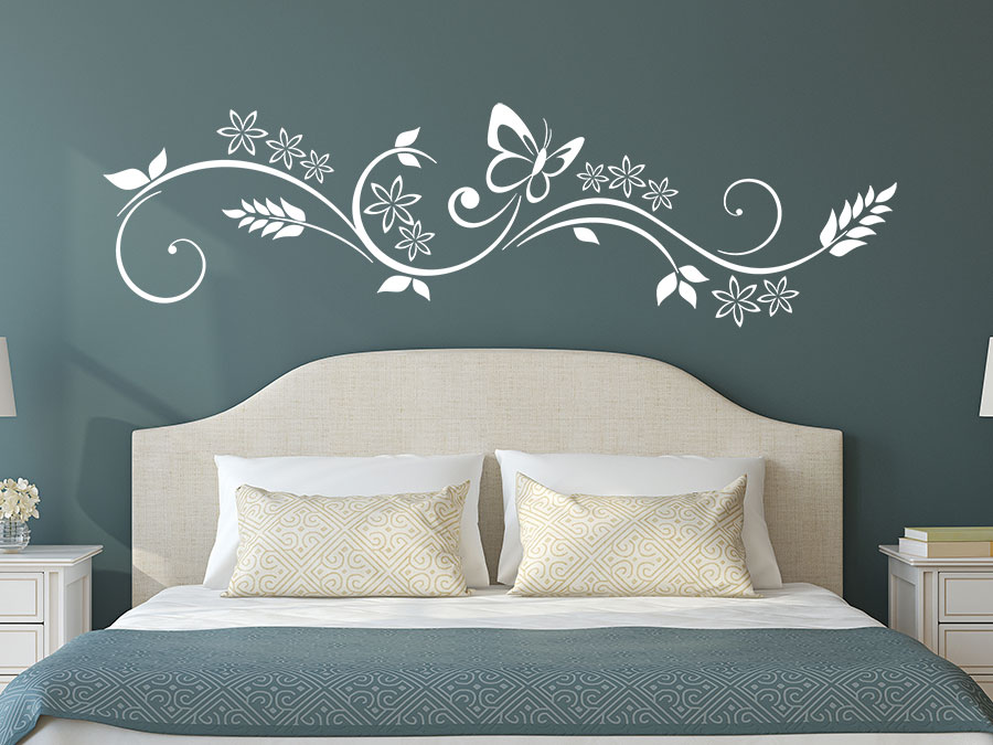 wandtattoo florales design von. Black Bedroom Furniture Sets. Home Design Ideas