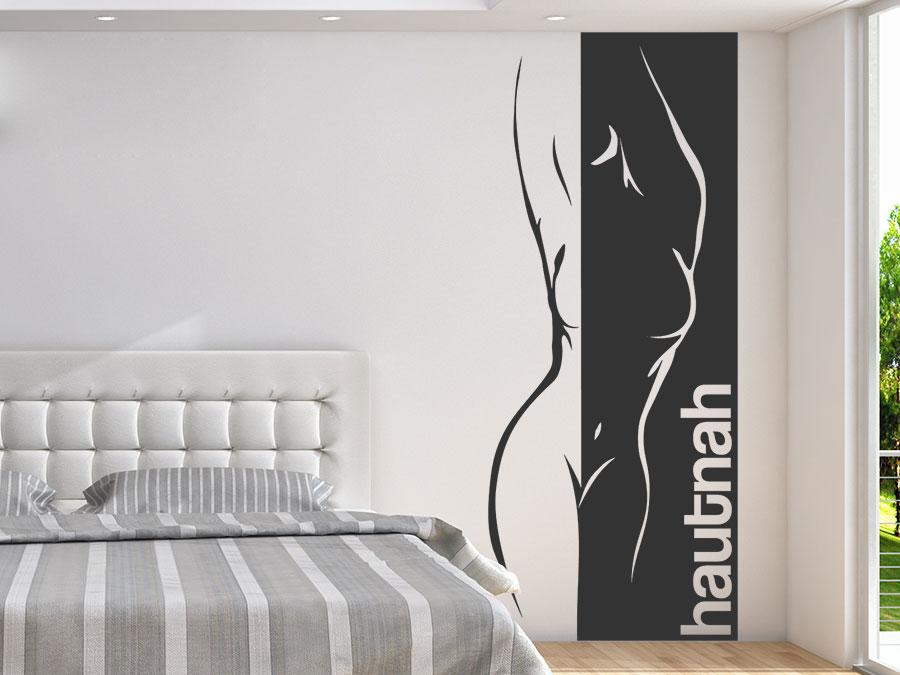 Wandtattoo banner hautnah mit frauensilhouette bei - Wandgestaltung kreise ...