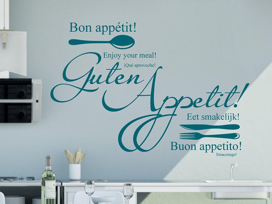 wandtattoo worte, kreative begriffe und namen | wandtattoo.de - Wandtattoo Küche Guten Appetit