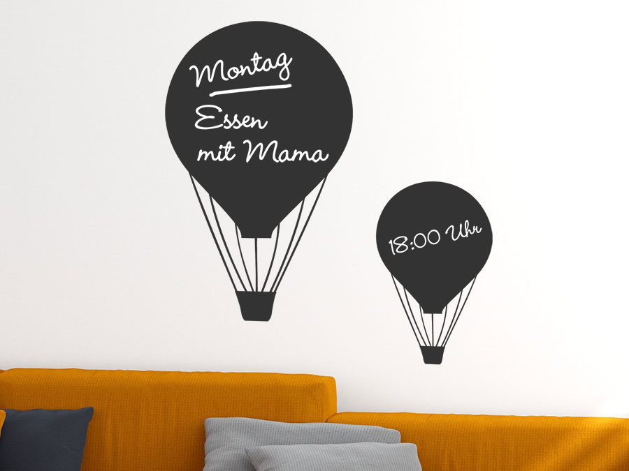 wandtattoo tafelfolie ballonfahrt bei. Black Bedroom Furniture Sets. Home Design Ideas