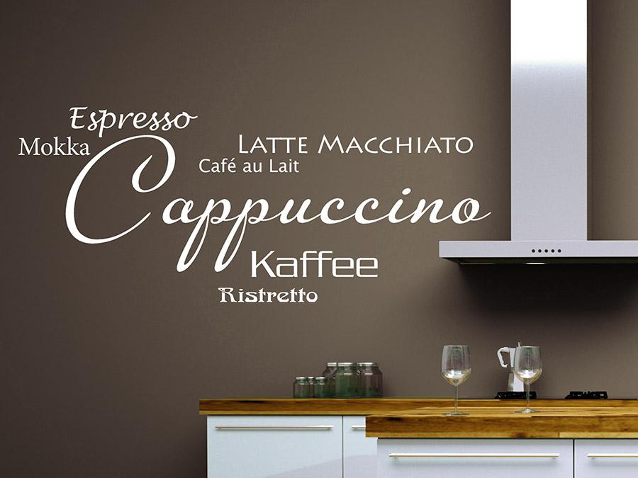 Wandtattoo Modernes Cappuccino Ristretto Bei Homestickerde