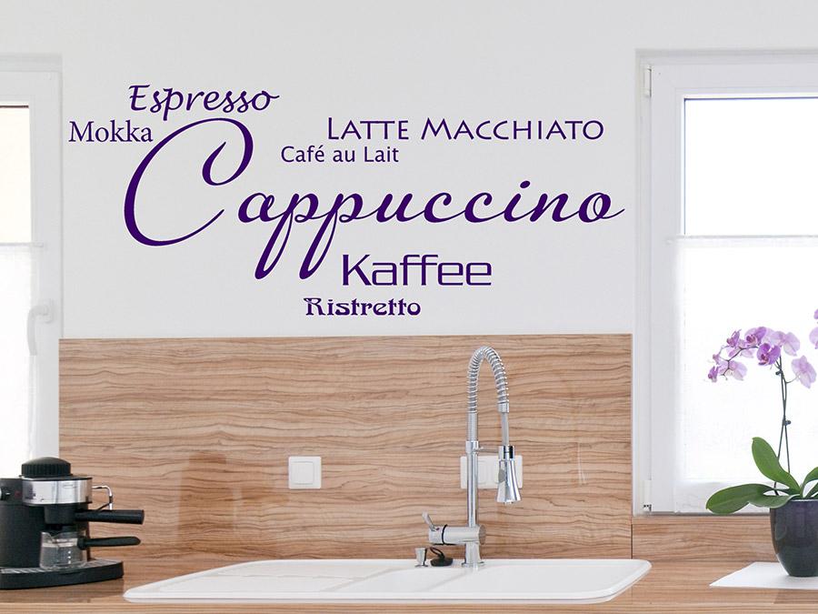 wandtattoo modernes cappuccino ristretto bei. Black Bedroom Furniture Sets. Home Design Ideas