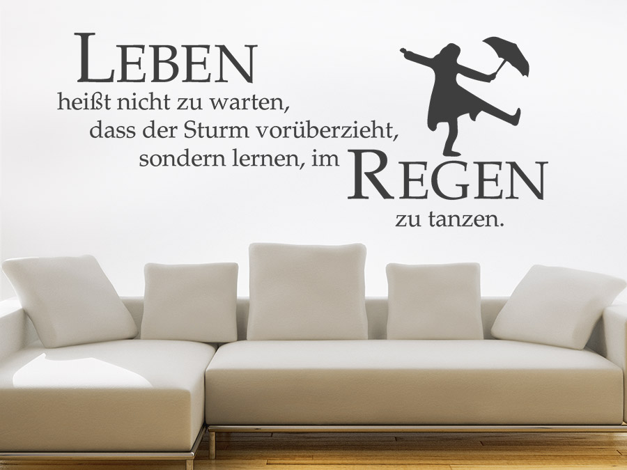 wandtattoo im regen zu tanzen spruch von. Black Bedroom Furniture Sets. Home Design Ideas