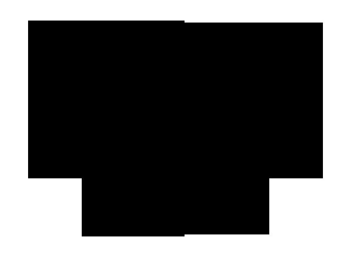 Ansicht Tafelfolie Raute mit Schnörkeln als Wandtattoo