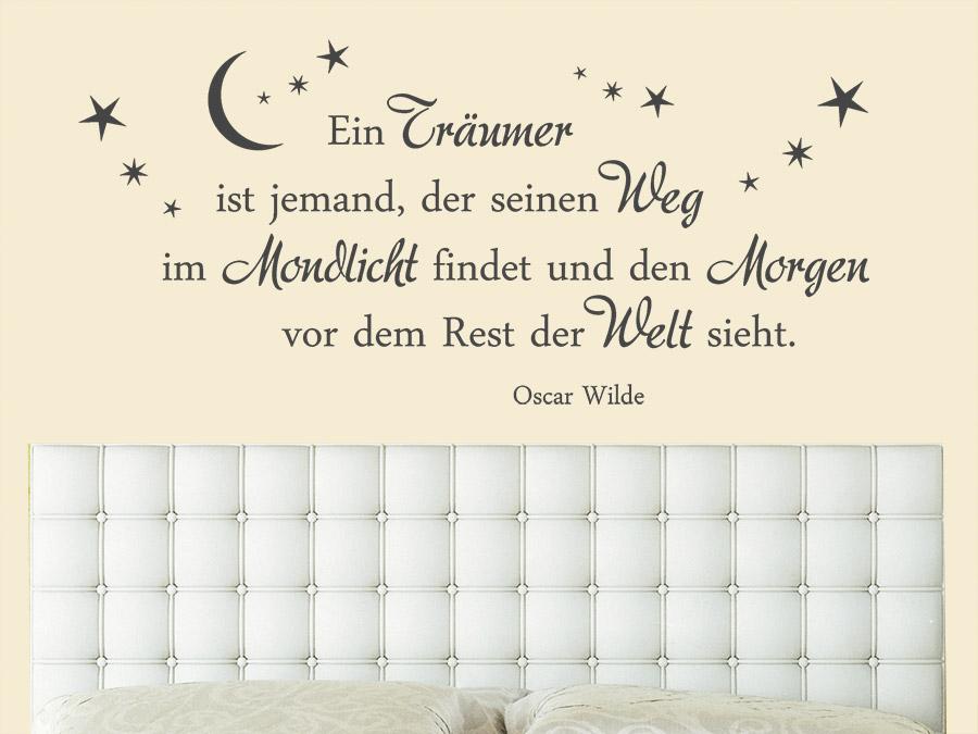 wandtattoo ein träumer ist jemand, der | wandtattoo.de