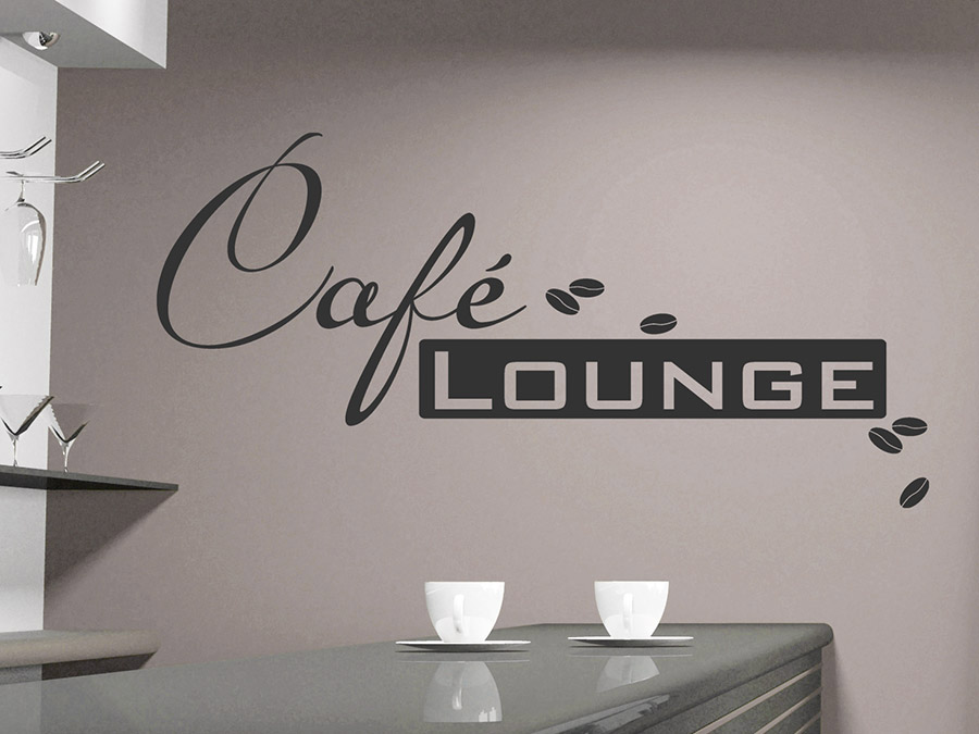 wandtattoo caf lounge im retrolook mit kaffee bohnen bei. Black Bedroom Furniture Sets. Home Design Ideas