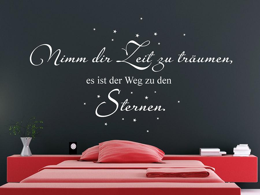 wandtattoo anfangen zu träumen mit sternen | wandtattoo.de