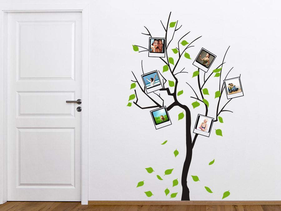 wandtattoo fotobaum zweifarbig polaroid stil wandtattoo de. Black Bedroom Furniture Sets. Home Design Ideas