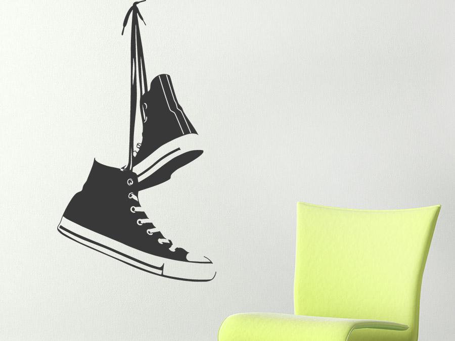 wandtattoo sneakers skater schuhe wandtattoo de. Black Bedroom Furniture Sets. Home Design Ideas