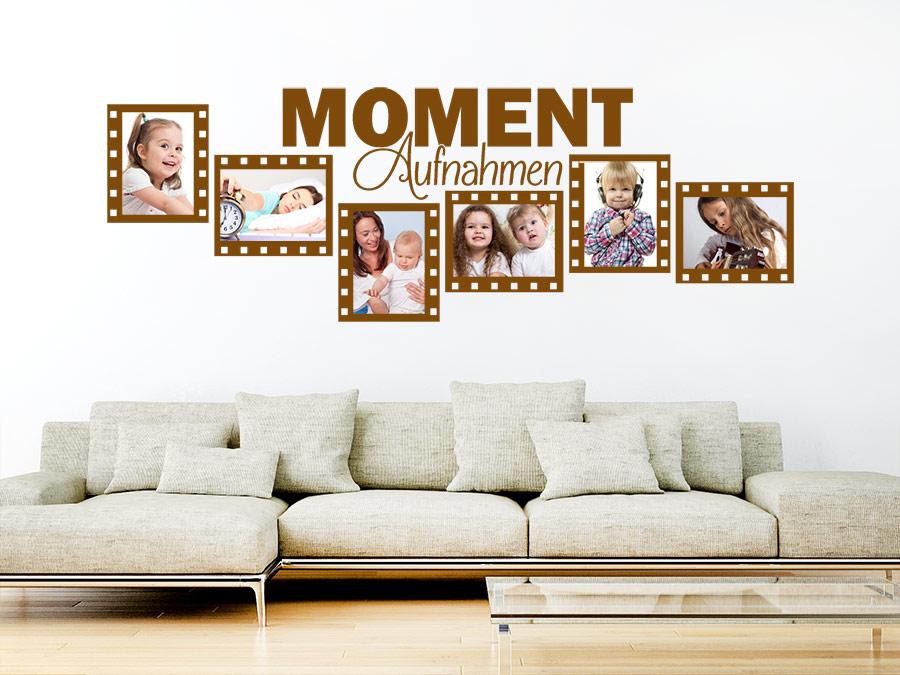 wandtattoo momentaufnahmen mit 6 fotorahmen wandtattoo de. Black Bedroom Furniture Sets. Home Design Ideas