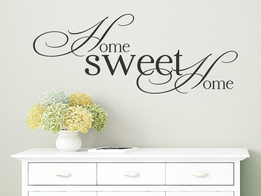 wandtattoo home sweet home bei. Black Bedroom Furniture Sets. Home Design Ideas