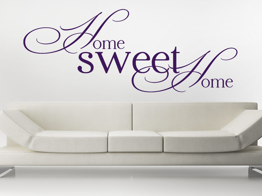 wandtattoo home sweet home von