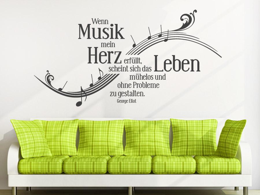 wandtattoo wenn musik mein herz erf llt wandtattoo de. Black Bedroom Furniture Sets. Home Design Ideas