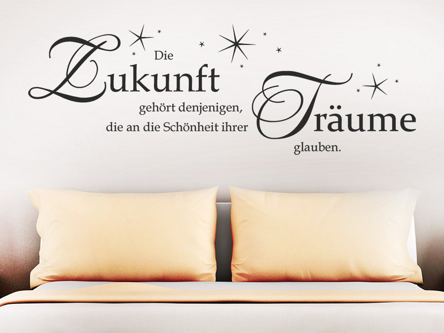 wandtattoo die zukunft geh rt spruch von. Black Bedroom Furniture Sets. Home Design Ideas