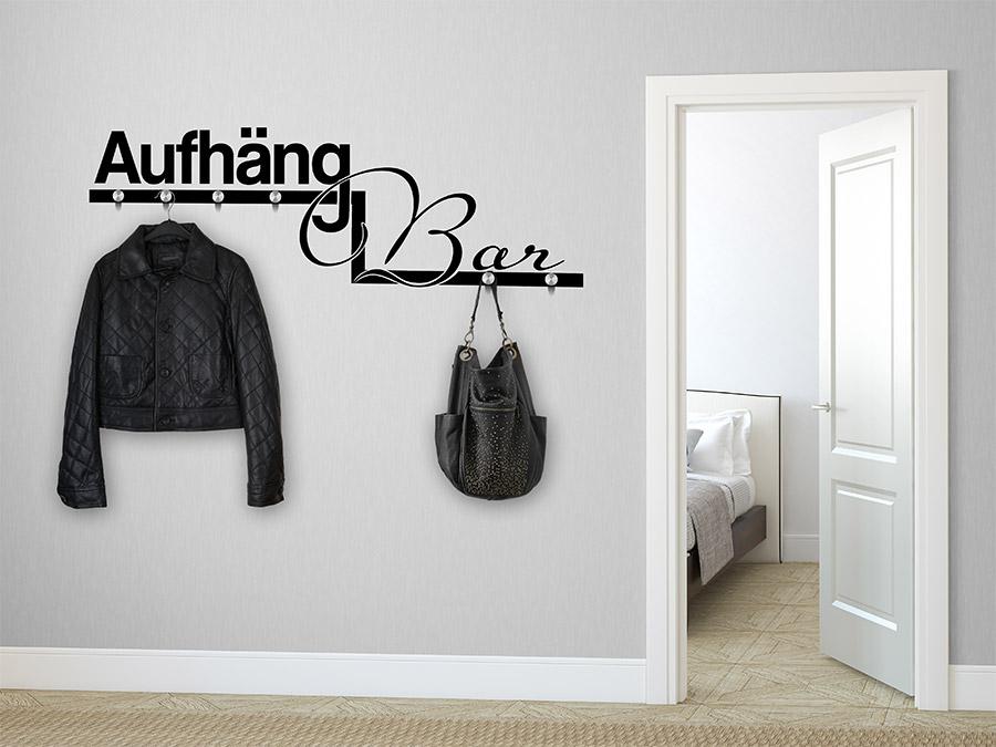 das witzige wortspiel der wandtattoo garderobe aufh ngbar wird bei. Black Bedroom Furniture Sets. Home Design Ideas