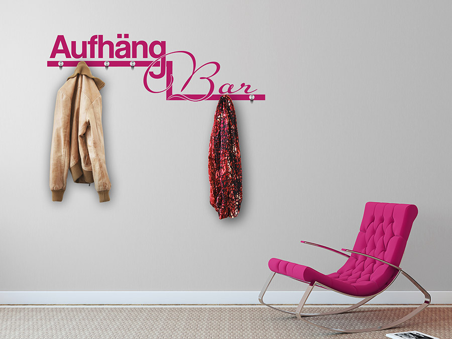 wandtattoo garderobe aufh ngbar von. Black Bedroom Furniture Sets. Home Design Ideas