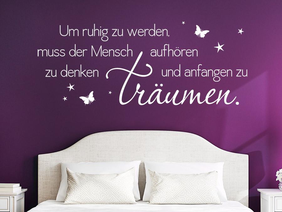 Wandtattoo Anfangen Zu Träumen Spruch Von Wandtattoo.de