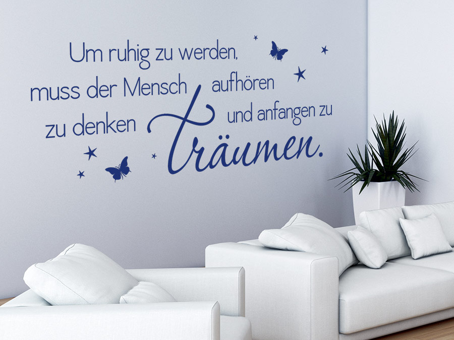 wandtattoo anfangen zu tr umen spruch von. Black Bedroom Furniture Sets. Home Design Ideas