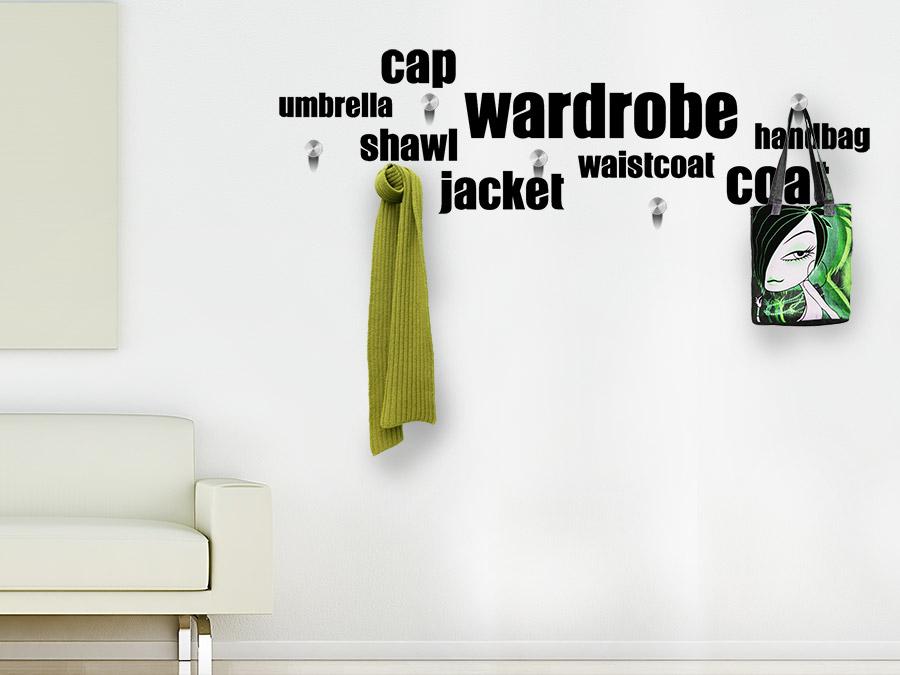 wandtattoo garderobe wardrobe von. Black Bedroom Furniture Sets. Home Design Ideas