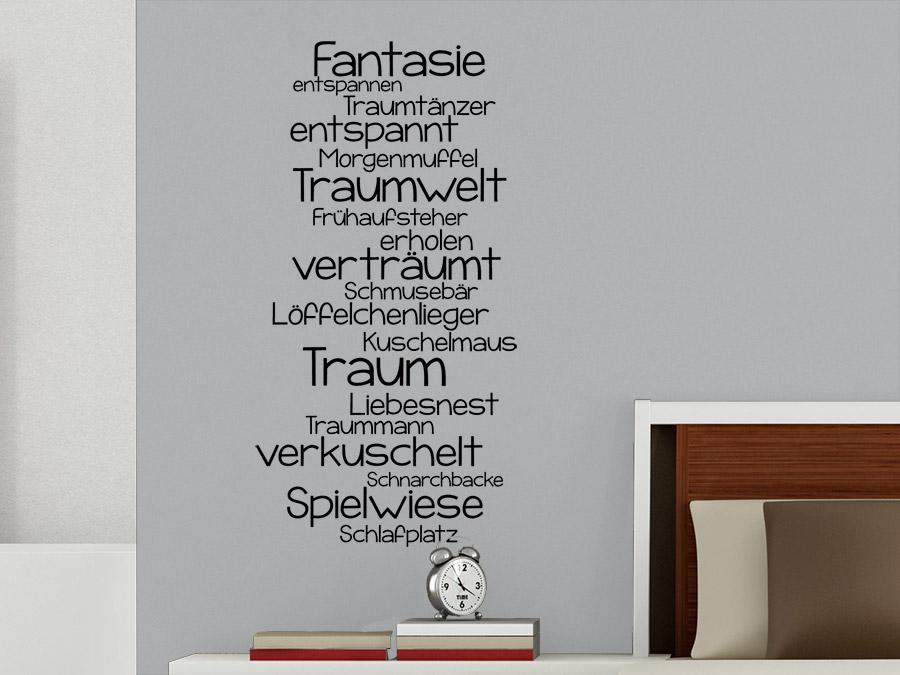 Wandtattoo Wortwolke Traum  WANDTATTOO.DE