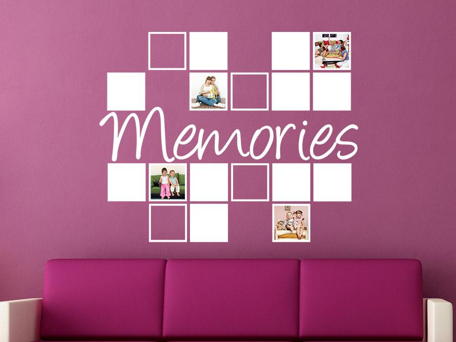 wandtattoo fotorahmen memories wandtattoo de. Black Bedroom Furniture Sets. Home Design Ideas