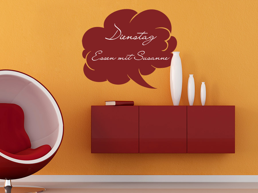 wandtattoo tafelfolie sprechblase bei. Black Bedroom Furniture Sets. Home Design Ideas