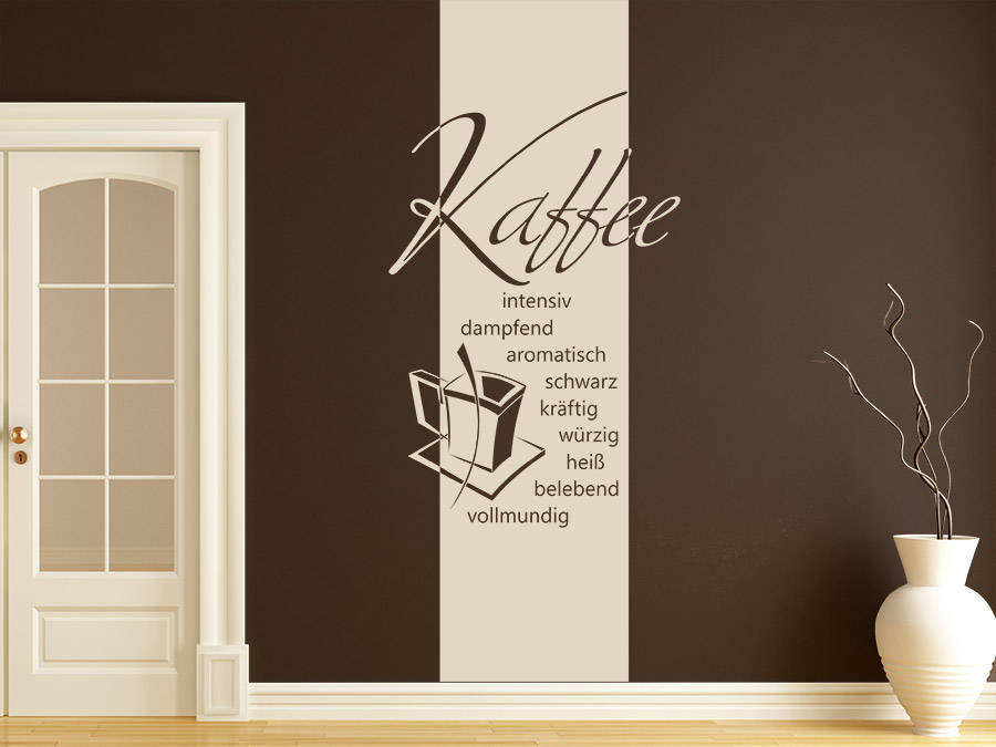 wandbanner guter kaffee wandtattoo raumhoch wandtattoo de. Black Bedroom Furniture Sets. Home Design Ideas
