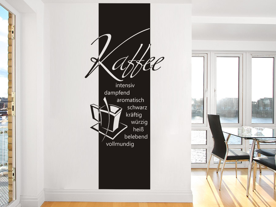 wandtattoo banner kaffee eigenschaften bei. Black Bedroom Furniture Sets. Home Design Ideas