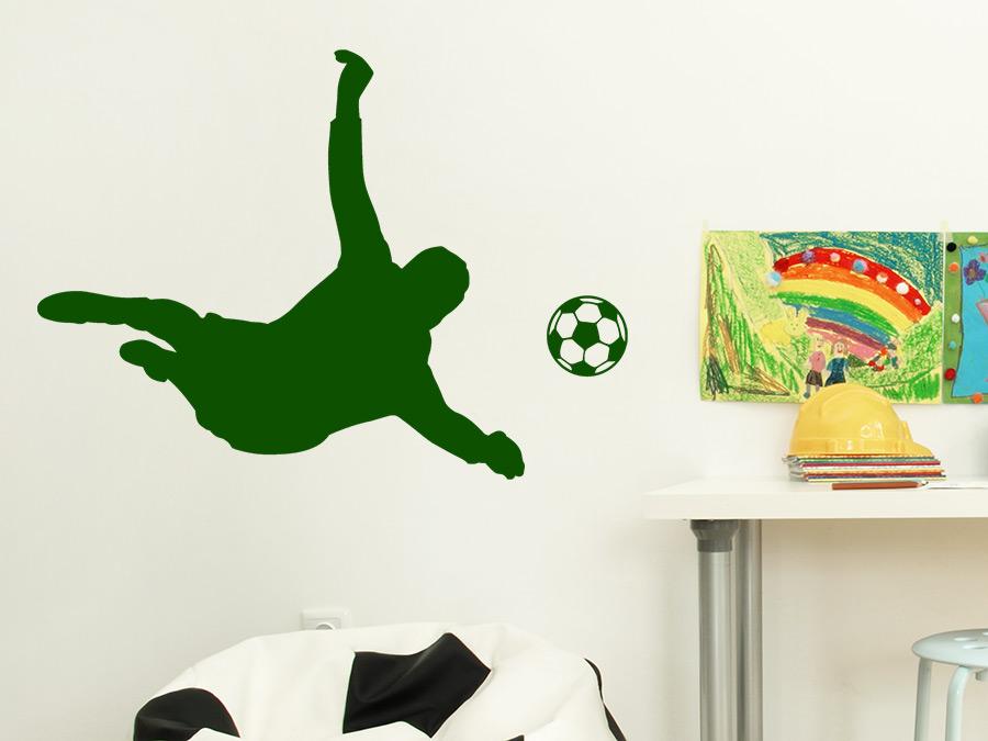Wandtattoo Fußball-Torwart Wandaufkleber Kinderzimmer Wandsticker wal043