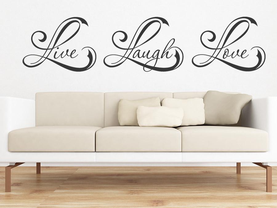 Wandtattoo Live Laugh Love   WANDTATTOO.DE