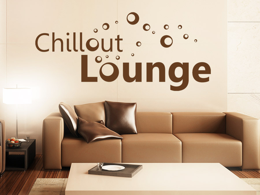 wandtattoo chillout lounge mit bubbles bei. Black Bedroom Furniture Sets. Home Design Ideas